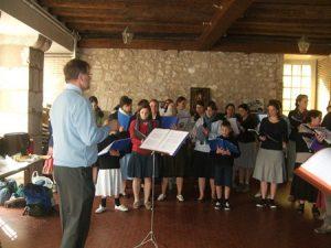 Répétition de chant de la chorale