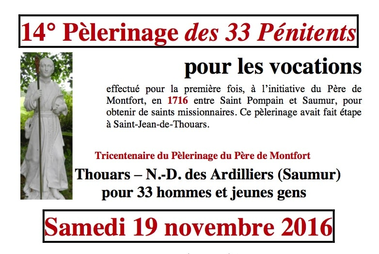 14° Pèlerinage des 33 pénitents – 19 nov 2016