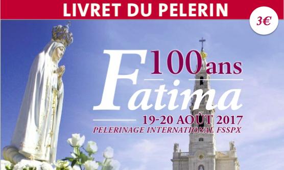 Le livret du pèlerin de Fatima 2017